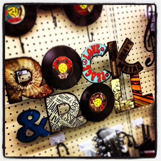 Rock roll wall decor for the home pinterest rock for Rock home decor