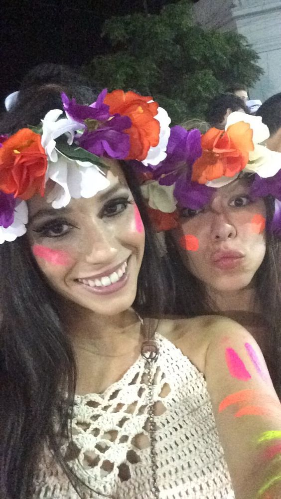 Coroa de flores para o carnaval