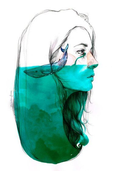 by Paula Bonet. My head is usually knee-deep in thoughts of the ocean.
