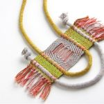 LESH weaves delicate handmade jewelry from hand-dyed rope at BKLYN Designs.