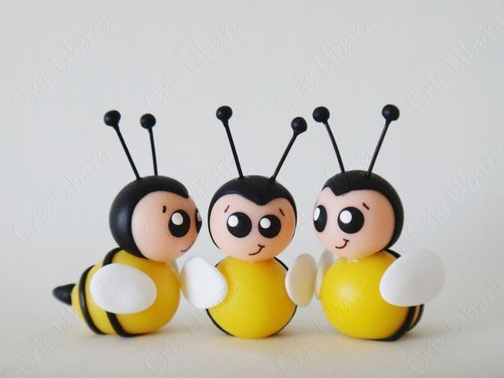 Aplique abelhinha (biscuit):