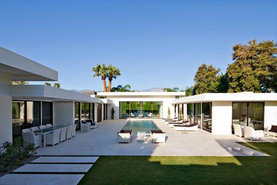 U Shaped House Plans With Pool Astonishing U Shaped House