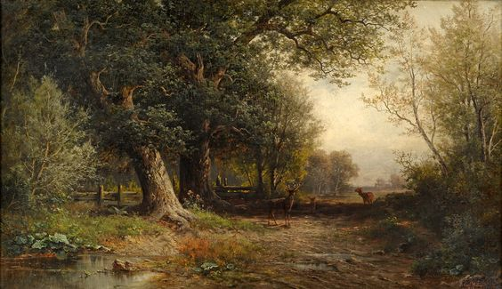 Morning in the Black Forest -Carl Philip Weber