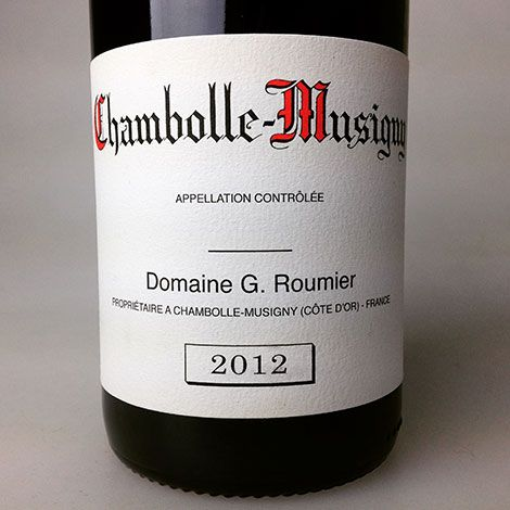 2012 Roumier Chambolle-Musigny, 750 ml, a wine from , Chambolle-Musigny, Burgundy, France