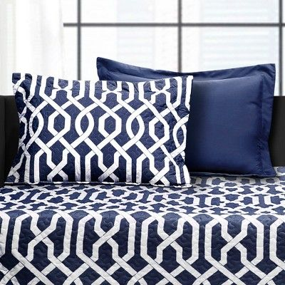 6pc Edward Trellis Daybed Cover Set Navy Lush Decor Daybed Cover Sets Daybed Covers Lush Decor