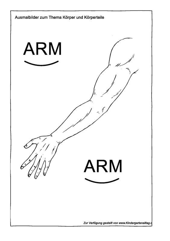 Ausmalbilder zum Thema Körper und Körperteile_1