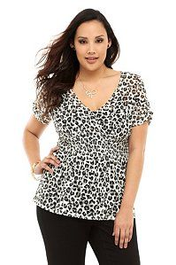 White Animal Print Smocked Lace Top | Fashion