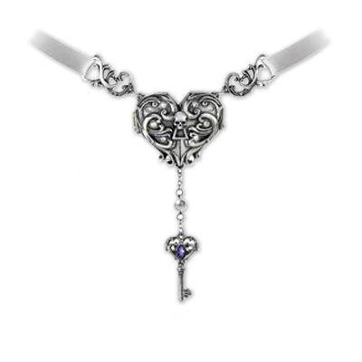 Inamorato Locket, harten medallion met sleutel ketting - Gothic Metal