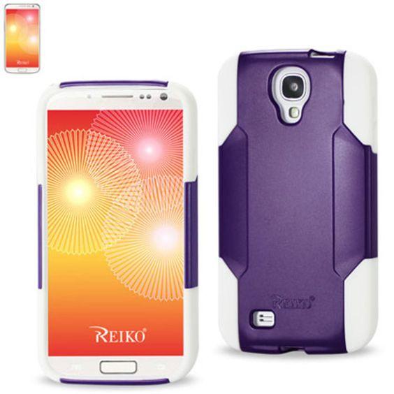 Reiko Silicon Case Plastic Cover Samsung Galaxy S 4 White Purple