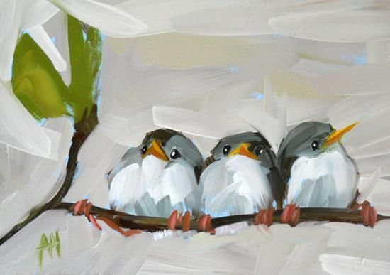 by Angela Moulton Paint as many birdies as you have children or pets or other significant number: