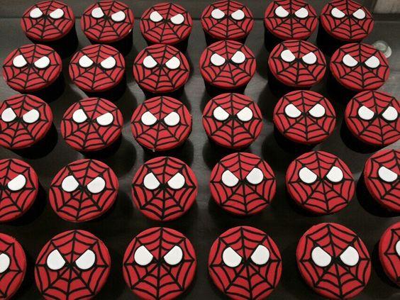 Cupcakes Spiderman