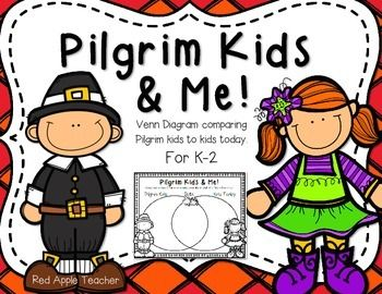 I hope you enjoy this Pilgrim Kids and Todays Kids Venn diagram.  This Venn is a great follow up to Sarah Mortons Day and Samuel Eatons Day.For this activity, students will construct a Venn Diagram by sorting phrases as those that pertain to Pilgrim kids, kids today, or both.