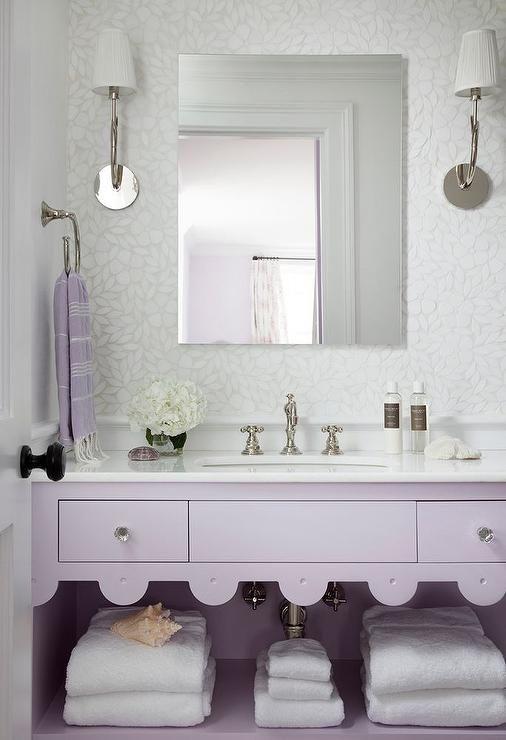 Purple Kids Bathroom Features