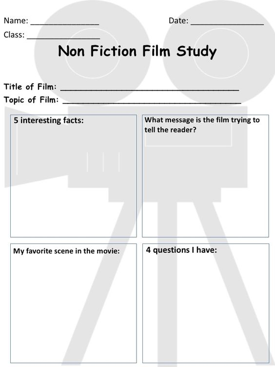 Worksheets Film Study Worksheet pinterest the worlds catalog of ideas non fiction film study worksheet keep students motivated and accountable when watching films perfect