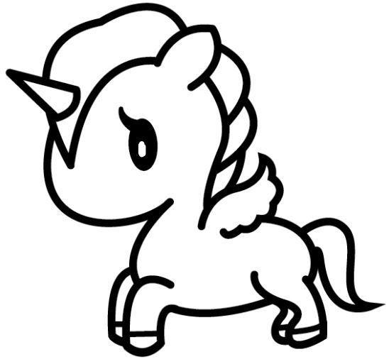 Unicornios Kawaii Para Colorear Kawaii Dibujos Kawaii Dibujos