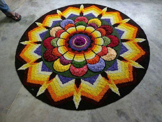 Beutiful flower rangoli