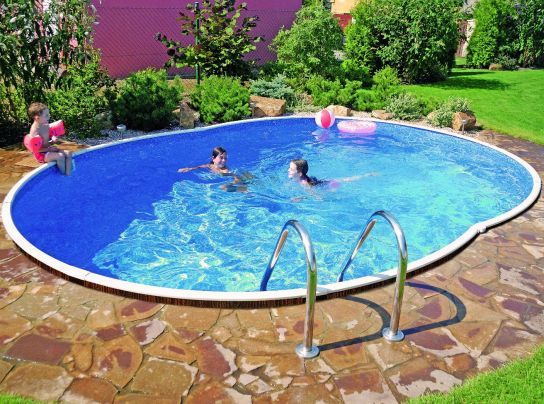 Deluxe Oval Splasher Pool With Sand Filter 18ft X 12ft Steel Pools Cheap Inground Pool Garden Pool Rectangular Pool