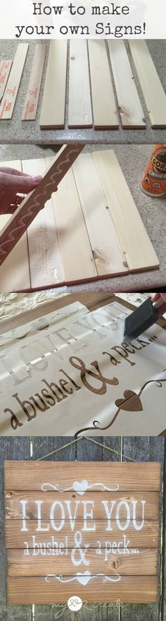 How to make your own signs including ideas without a cutting machine! Tutorial at MyLove2Create