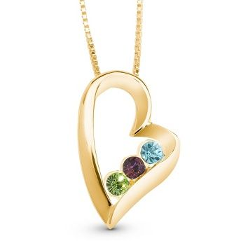 """14K Gold/Sterling Birthstone Necklace: Wearing your birthstone was once thought to be an amulet of protection or a symbol of good fortune. It's also a special way to remind yourself of the authentic """"you"""""""