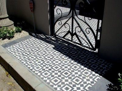 granada tile entry | Black and White Cement Tiles