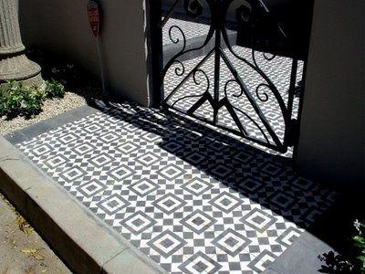 granada tile entry | Black and White Cement Tiles