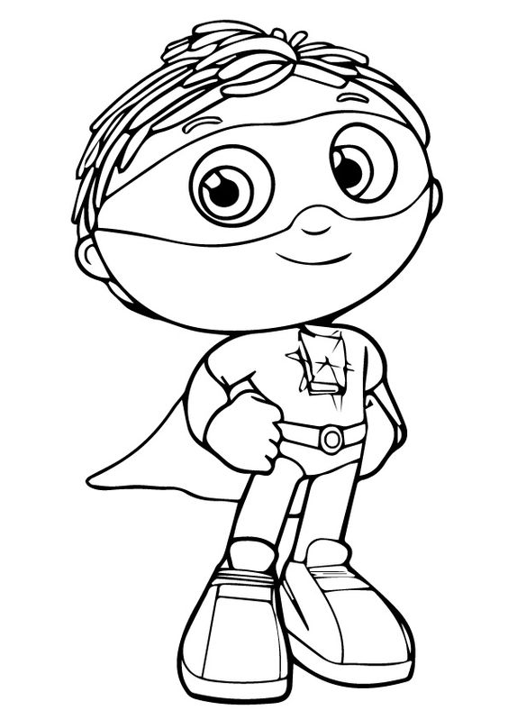 Coloring Super Why And Coloring Pages On Pinterest Why Coloring Page