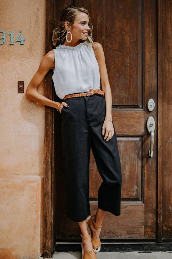 Keegan Wide Leg Trousers in Black