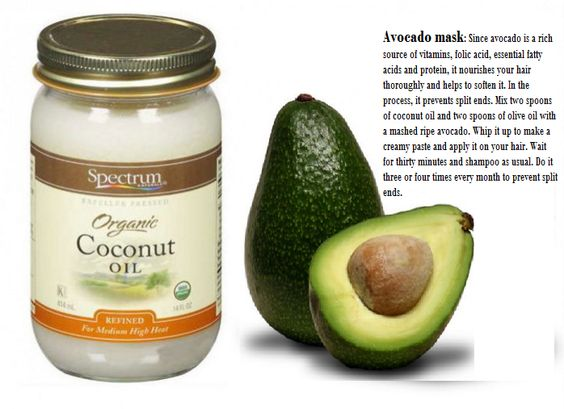 A good way to protect and repair your hair with easy hair mask from avocado and some coconut oil! Sounds fine, right?!