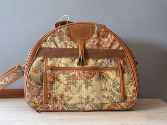 Victorian Style Floral Tapestry Women Case Bag by MeshuMaSH