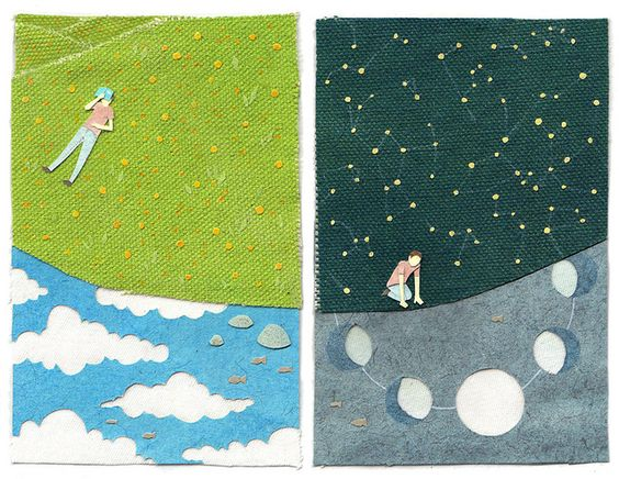 day and night by miki sato, via Flickr  i love this stuff!!