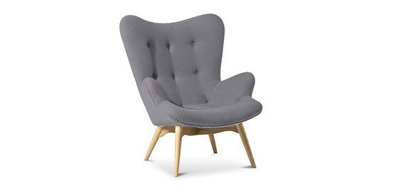 Fauteuil Contour Lounge Chair - Grant Featherston Design Scandinave Style - Cachemire