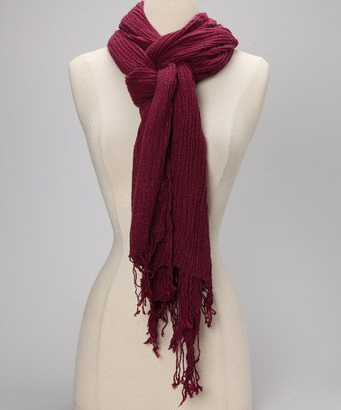 Take a look at this Eggplant Crinkle Scarf by Spun Scarves by Subtle Luxury on #zulily today!