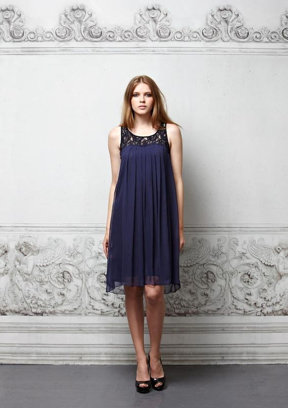 ross + bute  Blanche – Crinkle Chiffon Dress  Embrace your inner Bardot with this luxe lace and silk chiffon baby doll. A chic silhouette that looks flattering on all shapes, belt it or wear it loose and floaty.