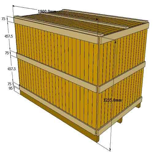 Wooden Box 1900x1100x1235 Kayu Surabaya Indonesia