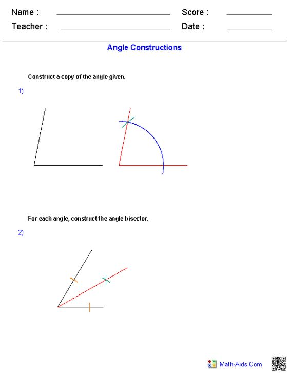 Angles Constructions Worksheets Ideas for the House – Coterminal Angles Worksheet