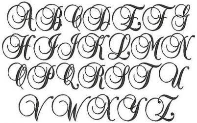 script fonts | Script Fonts Embroidery Designs