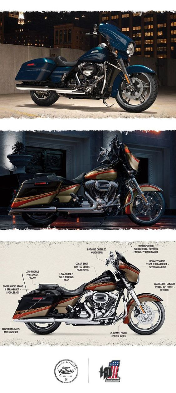 You'll be ready to eat up the miles in custom comfort.   2016 Harley-Davidson Street Glide Special