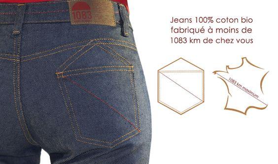 Jeans 100% coton bio, entièrement fabriqué en France - 1083