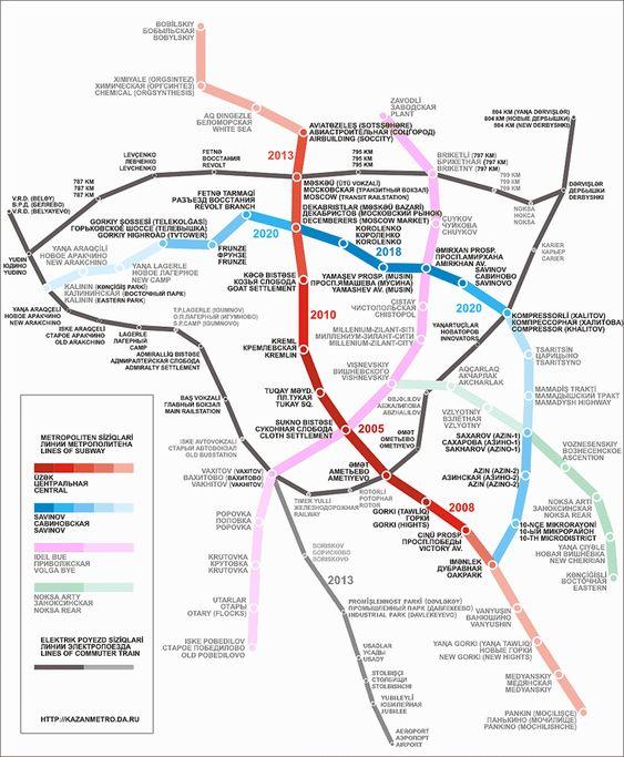 Die Metro ist eine großartige Möglichkeit um sich in der Stadt Kazan, die sich in der Republik Tatarstan in Russland befindet, fortzubewegen. Erste Pläne zum Bau der Metro gab es bereits 1979, kurz nachdem die Bevölkerungszahl von Kazan die 1 Millionen Marke überschritten hatte, was in der Sowjetunion ein Zeichen dafür war, dass eine Metro in der Stadt notwendig ist. Aufgrund von finanziellen und politischen Rückschlägen dauerte es jedoch bis 1997, bis der Bau der ersten Metrostation endlich…