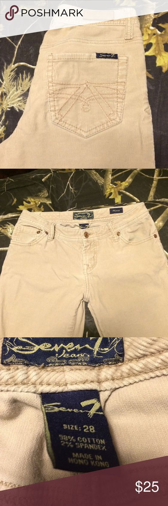 Seven 7 corduroy jeans Corduroy seven 7 jeans . Size 28 x 34 Seven7 Jeans Flare & Wide Leg