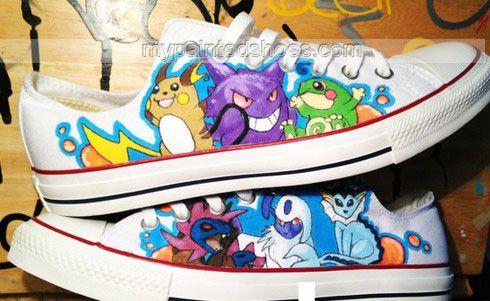 Pokemon Converse Hand Painted Anime Chuck Taylor Men's Women's Sneaker