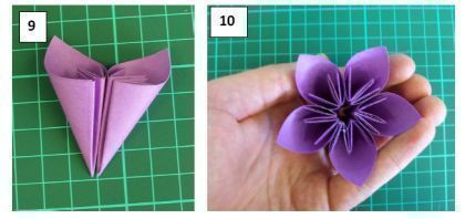 Origami Kusadama Flowers    these are so cool! But I suggest going to YouTube and finding the video on how to...   http://www.youtube.com/watch?feature=endscreen=1=S1dzW30XrZ4