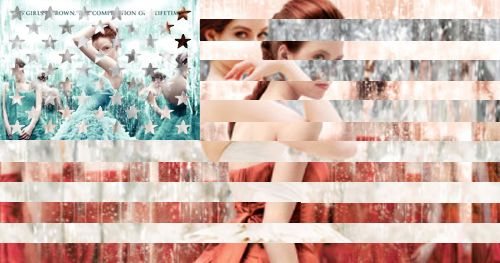 The American flag created out of The Selection Trilogy. I think this is adorable and totally represents America;-) Happy 4th of July, fellow Selection friends!: