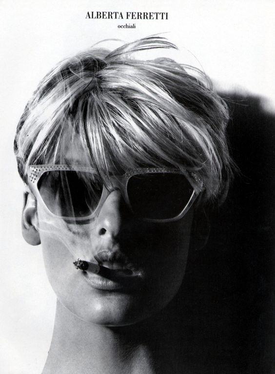 Linda Evangelista by Steven Miesel, Alberta Ferretti campaign 1991