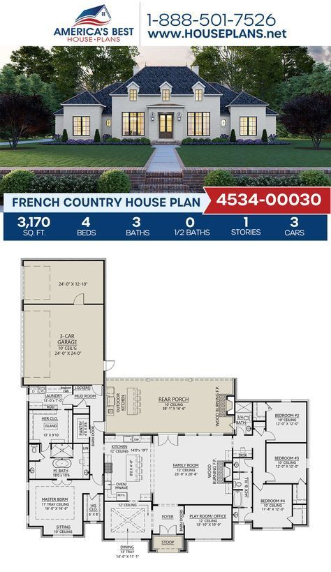 Setting Sun In The Woods In 2020 French Country House Plans Craftsman House Plans French Country House