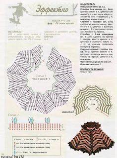 Diese Anleitung ist Kindergröße ... Inspiration ;O) Poncho zig-zag häkeln - crochet