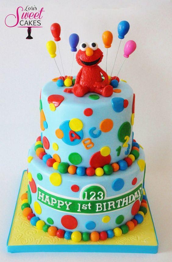 Super cute Elmo cake by Loris Sweet Cakes
