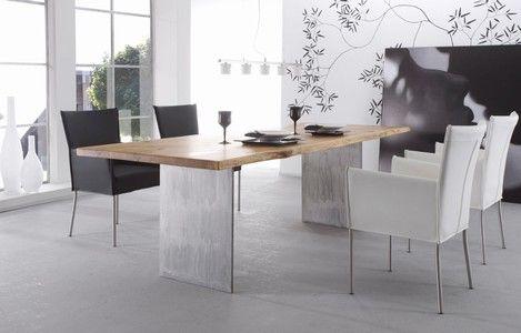 Wildeiche Esstisch mit Stuhl E7