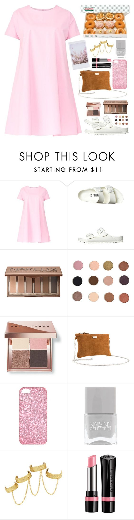 """Change of heart"" by maddie-dancer ❤ liked on Polyvore featuring Maiocci, Birkenstock, Urban Decay, Bobbi Brown Cosmetics, Black & Brown London, Maison Takuya, Nails Inc., House of Harlow 1960 and Rimmel"