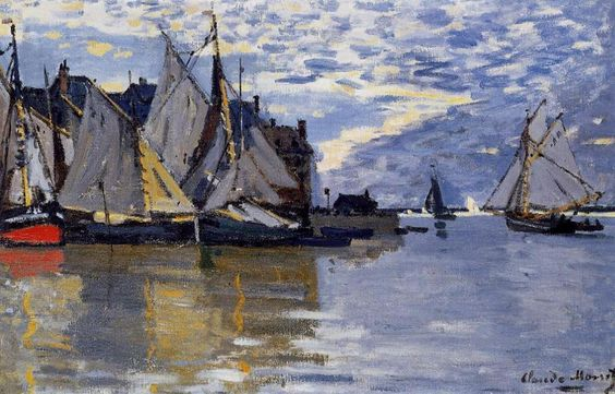 Claude Monet - Sailboats, 1864-1866